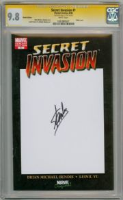 Secret Invasion #1 Blank Variant CGC 9.8 Signature Series Signed Stan Lee Marvel comic book